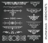 decorative elements for design... | Shutterstock .eps vector #1080424871