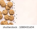chocolate chip cookies on pink... | Shutterstock . vector #1080431654