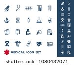 medical icons set vector | Shutterstock .eps vector #1080432071