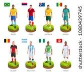 group soccer football player... | Shutterstock .eps vector #1080439745