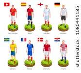 group soccer football player... | Shutterstock .eps vector #1080441185