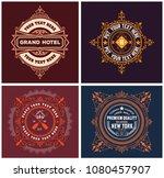 vintage logo templates  hotel ... | Shutterstock .eps vector #1080457907