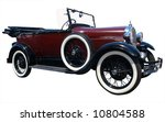 1928 vintage tourer isolated... | Shutterstock . vector #10804588