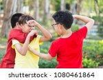 asian boy student or children...   Shutterstock . vector #1080461864