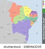 vector set of northeast region...   Shutterstock .eps vector #1080463235