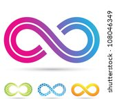 vector illustration of infinity ... | Shutterstock .eps vector #108046349