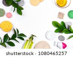 spa background with bath... | Shutterstock . vector #1080465257