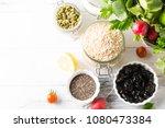 bowl of assorted fresh seasonal ...   Shutterstock . vector #1080473384