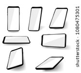 set phones at different angles. | Shutterstock .eps vector #1080475301