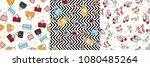 collection of women accessories.... | Shutterstock .eps vector #1080485264