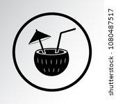 cocktail icon. vector... | Shutterstock .eps vector #1080487517