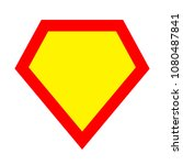 superhero logo template. red ... | Shutterstock . vector #1080487841