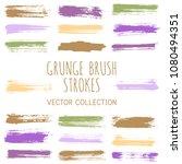 grunge paint brush stroke... | Shutterstock .eps vector #1080494351