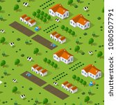 rural isometric natural... | Shutterstock .eps vector #1080507791