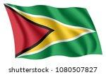guyana flag. isolated national... | Shutterstock .eps vector #1080507827