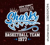 colored font grunge varsity... | Shutterstock .eps vector #1080509294