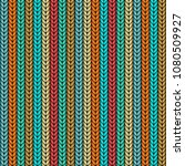 multicolor knitted seamless... | Shutterstock .eps vector #1080509927