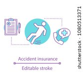 accident insurance concept icon.... | Shutterstock .eps vector #1080513371
