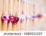 multicolored glass beads ... | Shutterstock . vector #1080521237
