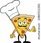 cartoon illustration of a slice ... | Shutterstock .eps vector #1080522281