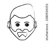 cartoon man face icon  | Shutterstock .eps vector #1080534251