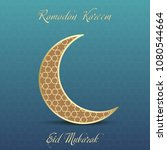 ramadan greeting card with... | Shutterstock .eps vector #1080544664