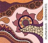 hand drawn ethno pattern ...   Shutterstock .eps vector #1080546551