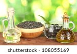 olive and sunflower oil in the... | Shutterstock . vector #108055169