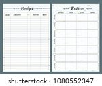 notebook pages template  budget ... | Shutterstock .eps vector #1080552347