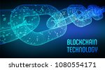 block chain. crypto currency.... | Shutterstock .eps vector #1080554171