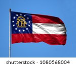 national flag state of georgia... | Shutterstock . vector #1080568004