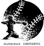 highlighted silhouette of a... | Shutterstock .eps vector #1080568931