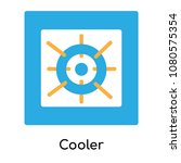 cooler icon isolated on white... | Shutterstock .eps vector #1080575354