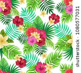 vector seamless tropical... | Shutterstock .eps vector #1080577031