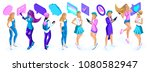 isometry a large set of...   Shutterstock .eps vector #1080582947