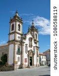 Small photo of Guarda, Portugal 04 29 2018: Principal facade of the Igreja da Misericordia Church of Guarda, Portugal.
