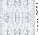 abstract vector high tech... | Shutterstock .eps vector #1080595517