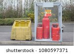 highly flammable gas propane... | Shutterstock . vector #1080597371