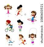 sport for kids including... | Shutterstock .eps vector #1080603521