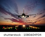 passengers commercial airplane... | Shutterstock . vector #1080604934
