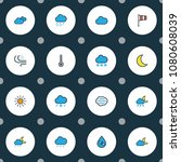 climate icons colored line set... | Shutterstock .eps vector #1080608039