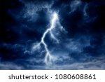 Lightning Strike On A Cloudy...