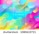 abstract vector multicolored... | Shutterstock .eps vector #1080610721