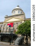 Downtown Montreal, and the Bonsecours Market in Canada - stock photo