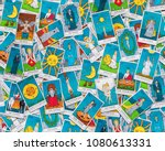 Assorted Tarot Cards Scattered...