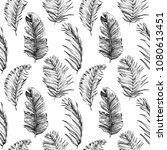 tropical palm leaves  jungle... | Shutterstock .eps vector #1080613451