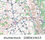 abstract geographical map.... | Shutterstock . vector #1080614615