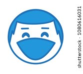 emoji with laughing out loud... | Shutterstock .eps vector #1080616031