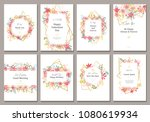 beautiful banners with flowers... | Shutterstock .eps vector #1080619934