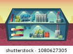 vector cross section of secret... | Shutterstock .eps vector #1080627305